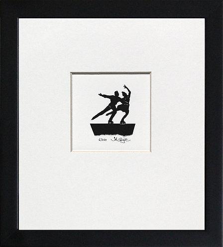 Ice Skating in Black Frame