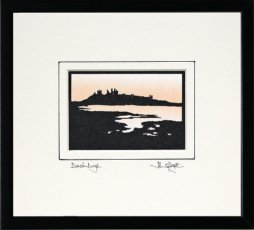 Dunstanburgh from the South in Black Frame