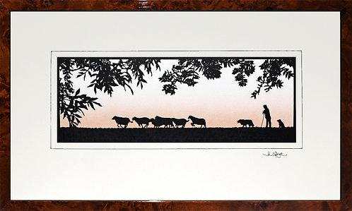 Shepherd in Walnut Veneer Frame
