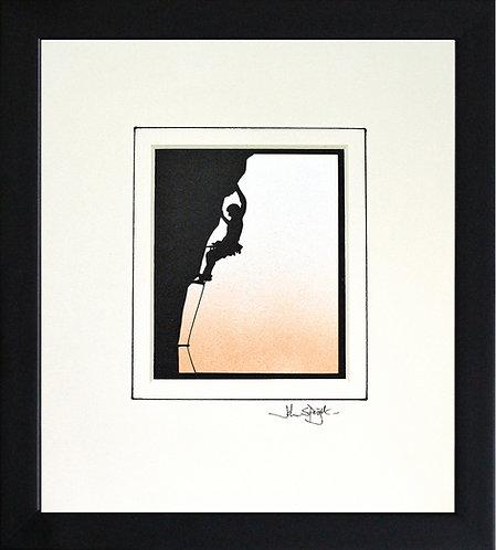 Rock Climber in Black Frame