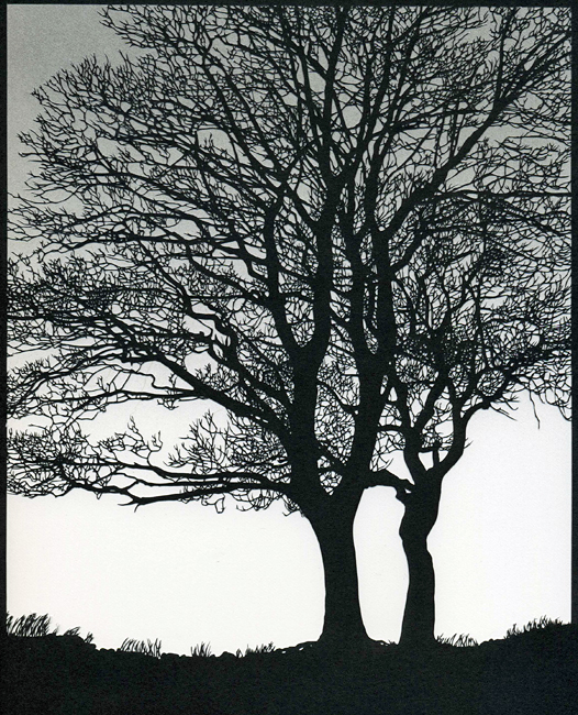 Two Trees (Grey Sky)