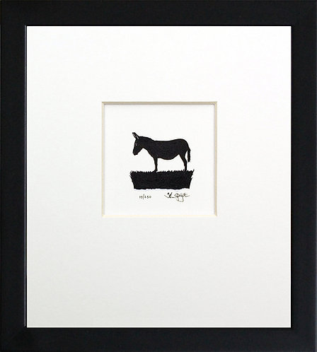 Donkey in Black Frame