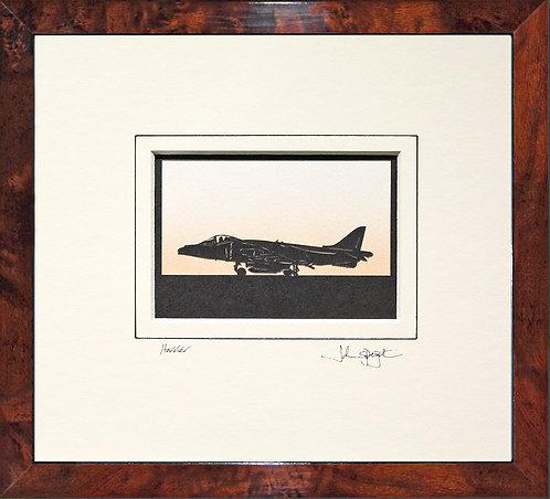 Harrier in Walnut Veneer Frame