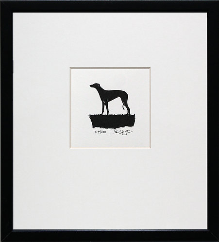 Greyhound in Black Frame