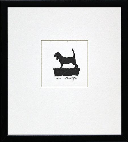 Beagle in Black Frame