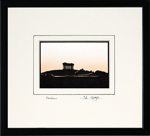 Penshaw Monument in Black Frame