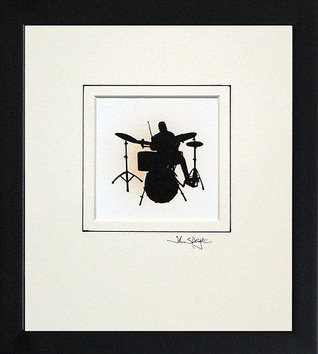 Drummer in Black Frame