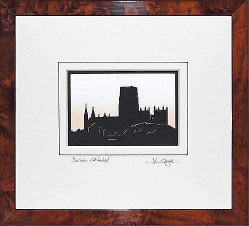 Durham Cathedral in Walnut Veneer Frame