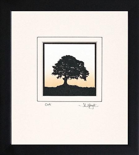 Oak in Black Frame