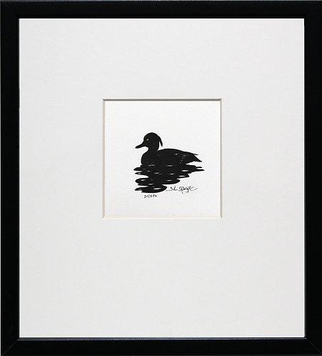 Tufted Duck in Black Frame