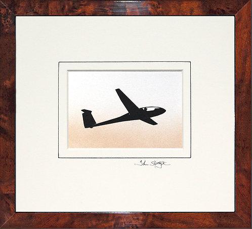 Glider - Design No.2 in Walnut Veneer Frame