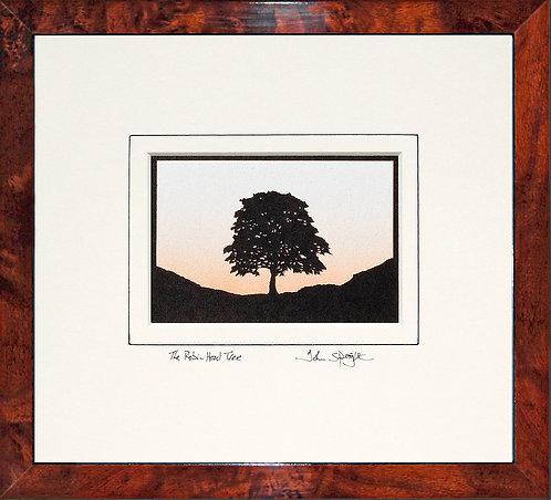 Robin Hood Tree - Landscape Version in Walnut Veneer Frame