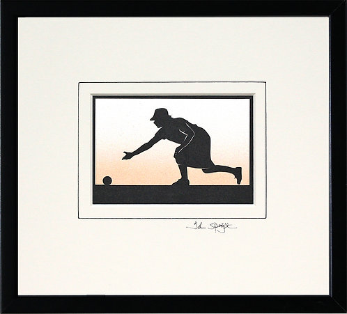 Bowls Player - Female in Black Frame
