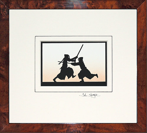 Kendo in Walnut Veneer Frame