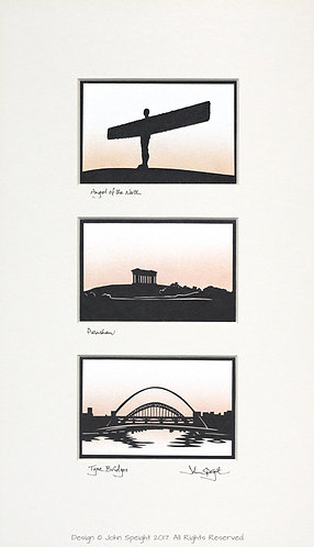 Angel of the North, Penshaw & Tyne Bridges Triple