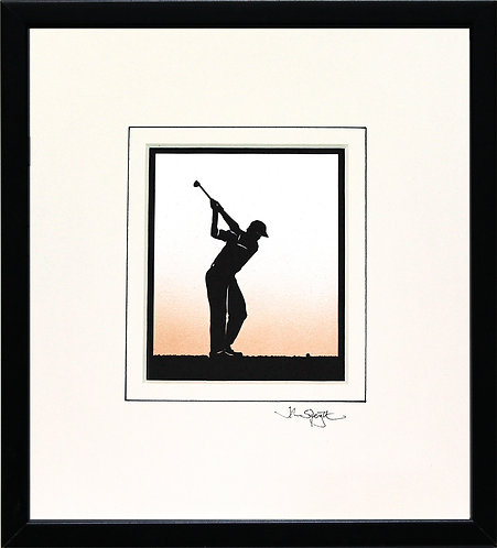 Golfer - Male in Black Frame