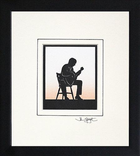 Guitar - Acoustic in Black Frame