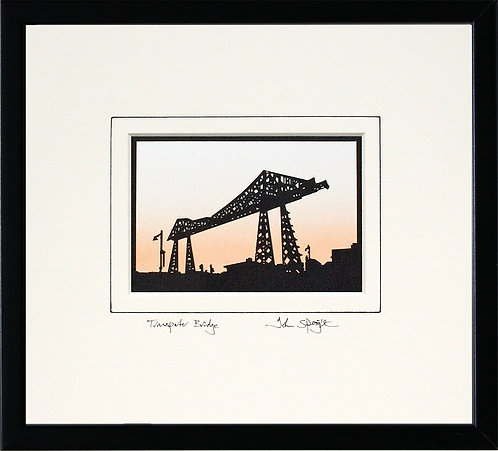 Transporter Bridge Middlesbrough in Black Frame