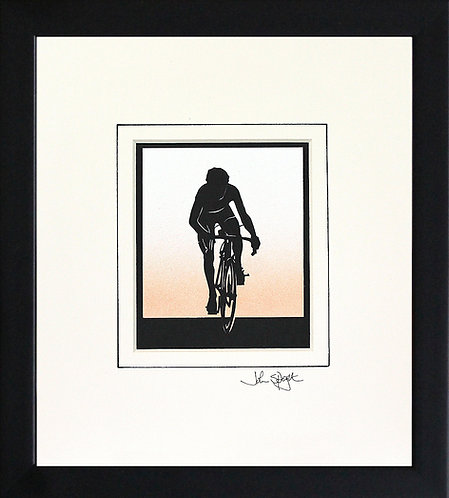 Cyclist in Black Frame