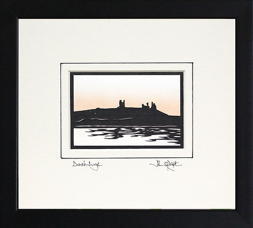 Dunstanburgh from the North in Black Frame