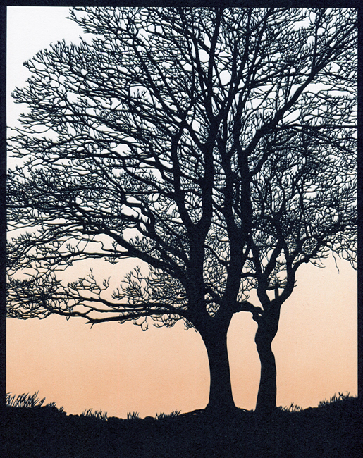 Two Trees (Orange Sky)