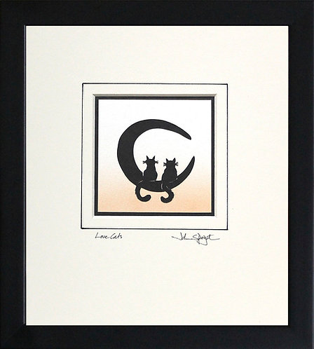 Cats - Love Cats in Black Frame