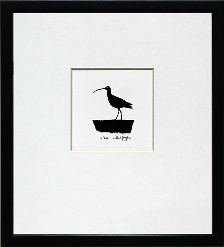 Curlew in Black Frame