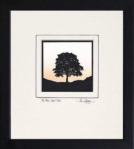 Robin Hood Tree - Square Version in Black Frame