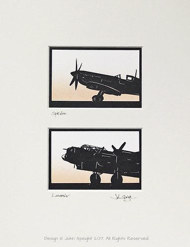 Spitfire, Lancaster Pair