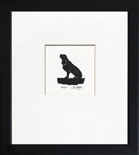Cavalier King Charles Spaniel in Black Frame