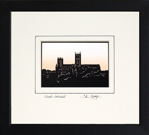 Lincoln Cathedral in Black Frame