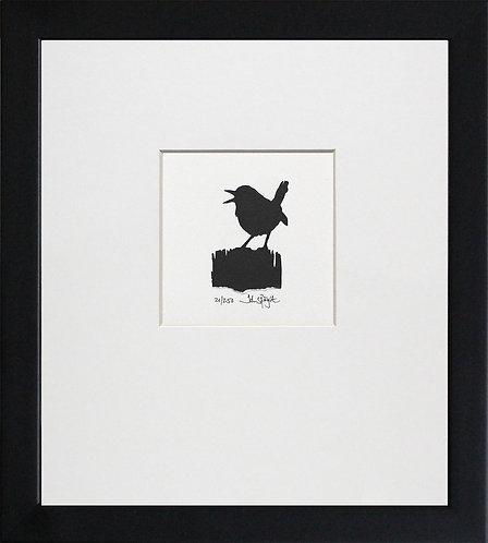 Wren in Black Frame