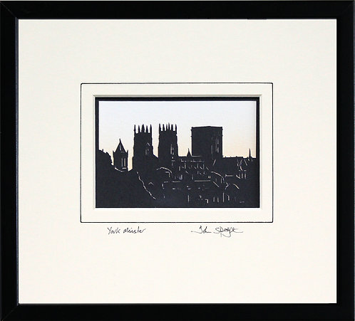 York Minster in Black Frame