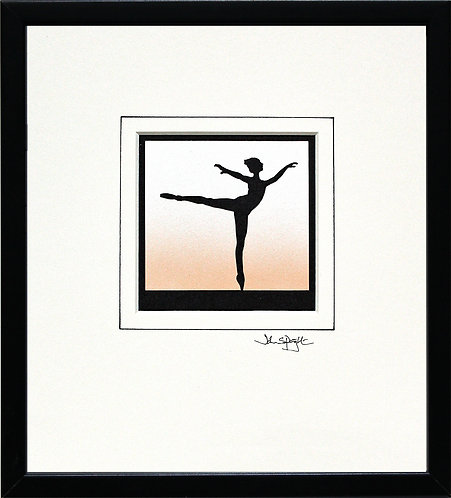 Ballerina in Black Frame