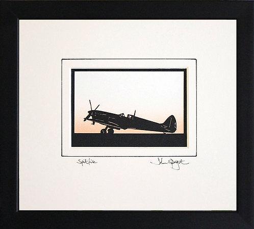 Spitfire - Full plane in Black Frame