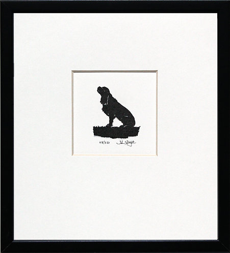 Cavalier King Charles Spaniel in Black Frame
