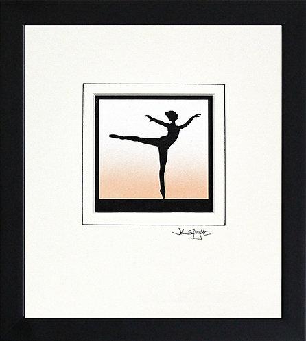 Ballerina in Black Frame