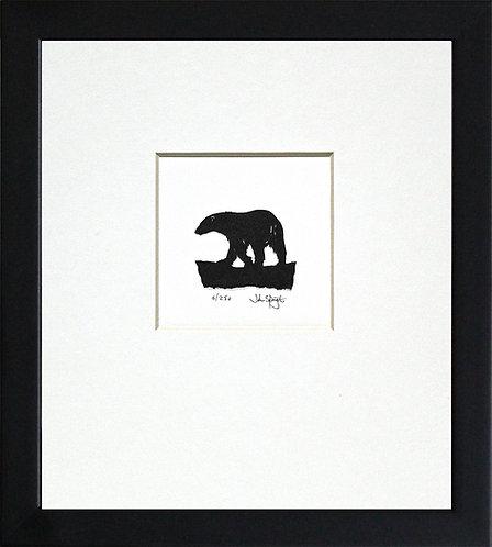 Polar Bear in Black Frame