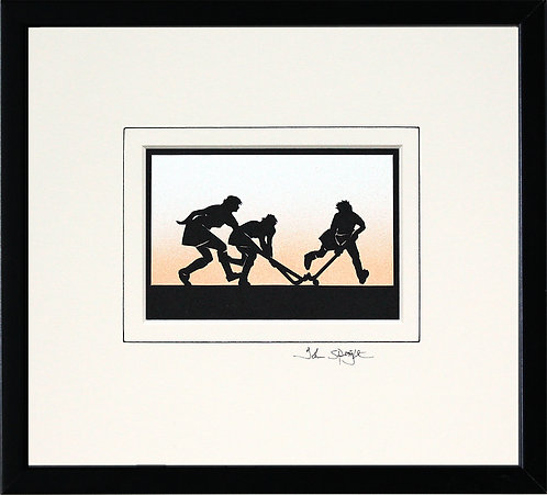 Hockey - Female in Black Frame