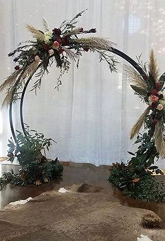 Setup for Fair Barn wedding yesterday!