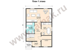 план недорогого двухэтажного дома