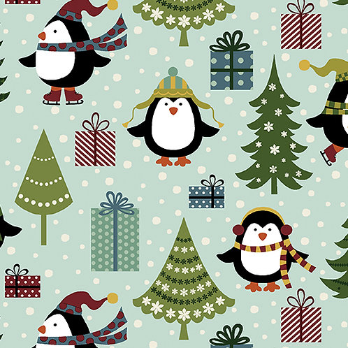 Jolly Penguin 10041-84 Holiday Turquoise/multi