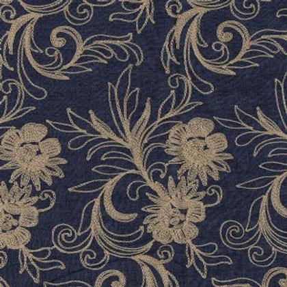Embroidered Gold - 145cm Wide 100% Cotton Denim