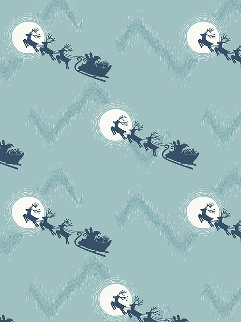 L&I Northern Lights-Santas sleigh on icy blue