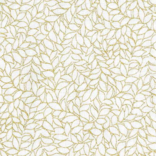 Blank Quilting - Honeystone Hill - White/Gold Metallic BLM3795-03