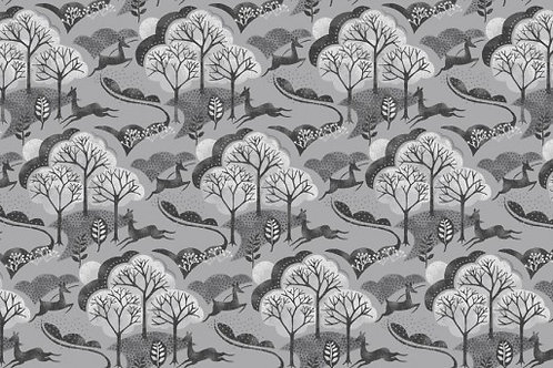 Makower - Into the Woods - Tree Grey
