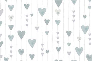 4592-117 Glimmering silver hearts
