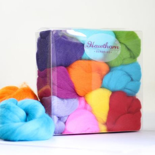 Brights Wool Bundle Felting
