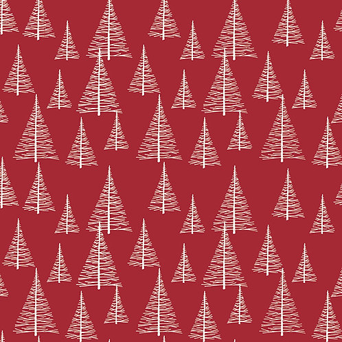 4496-404 Silent Christmas Red Trees