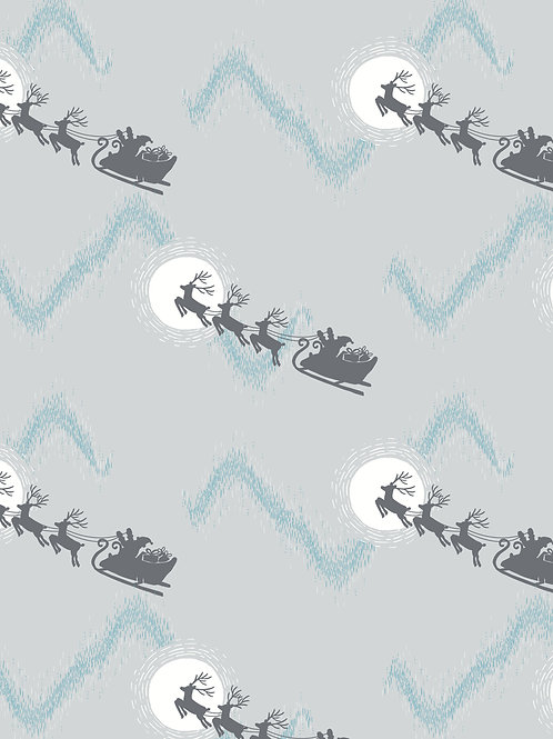 L&I Northern Lights-Santas sleigh on silver